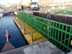 Encofrado estandar para viga cantil puerto de Tarifa