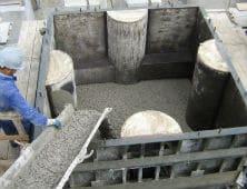Hormigonado bloque antifer Melilla